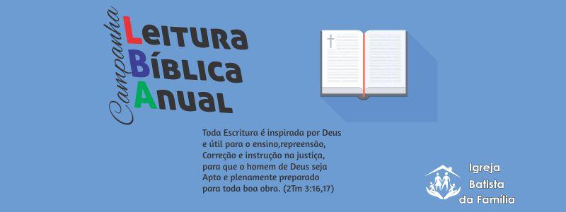 Leitura Bíblica Anual